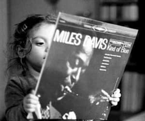 black and white, music, and miles davis image