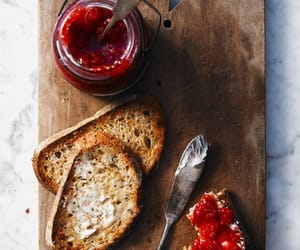 food, bread, and jam image