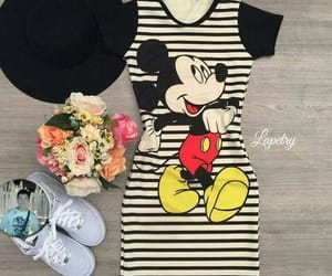 listras, mickey mouse, and vestido image