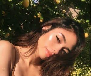 girl, makeup, and sun image