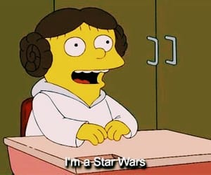 star wars, simpsons, and the simpsons image