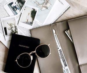 passport, sunglasses, and style image