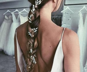 blonde, bride, and wedding hairstyle image