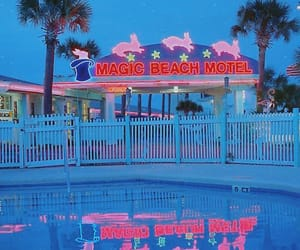 motel, neon, and pink image