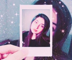 girl, polaroid, and sparkles image