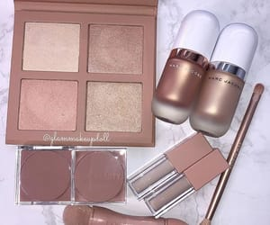 gold, highlighters, and rose gold image
