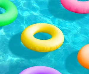 pool, inflatables, and candyminimalism image