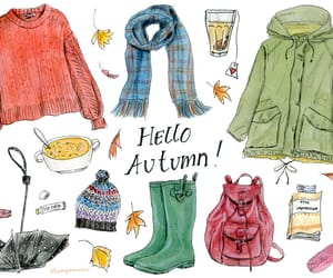fall fashion, fashion illustration, and knitwear image