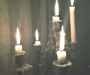candle, vintage, and dark image