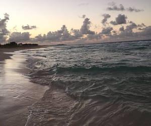 sea, beach, and sky image