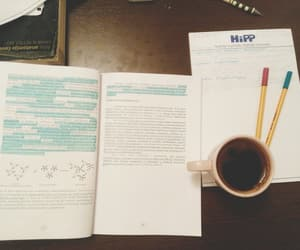 books, coffee, and stabilo image
