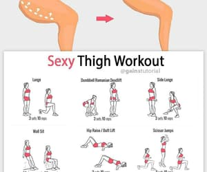 thigh, fitness, and workout image