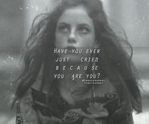 KAYA SCODELARIO, sad quote, and tumblr girl image