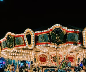 carnival, carousel, and colorful image