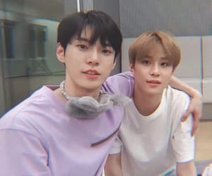 jungwoo, doyoung, and idol image