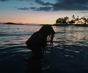 beach, hawaii, and girl image