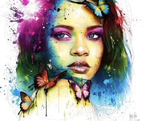 art, butterfly, and canvas image
