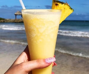summer, drink, and pineapple image