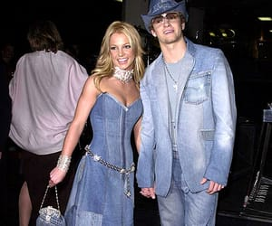 britney spears, justin timberlake, and jeans image