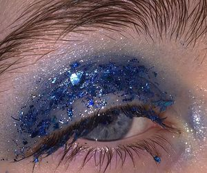 blue, glitter, and aesthetic image