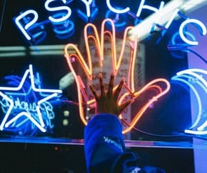 aesthetic, hand, and neon image