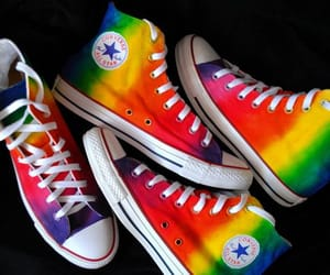 converse, rainbow, and sneakers image