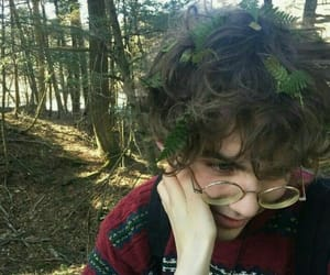 boy, glasses, and forest image