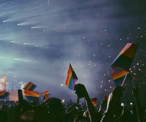 concert, rainbow, and Harry Styles image