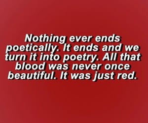 quotes, poetry, and red image