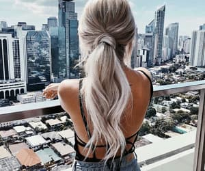 hair, city, and travel image