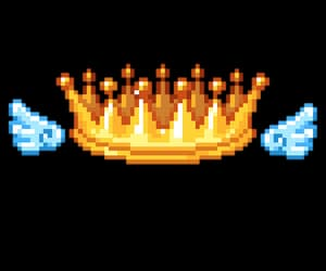 crown, pixel, and png image