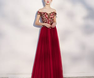 backless, burgundy, and prom dresses image