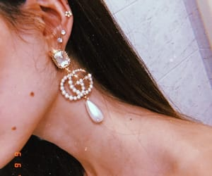 earrings, gucci, and style image