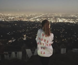 girl, city, and hollywood image