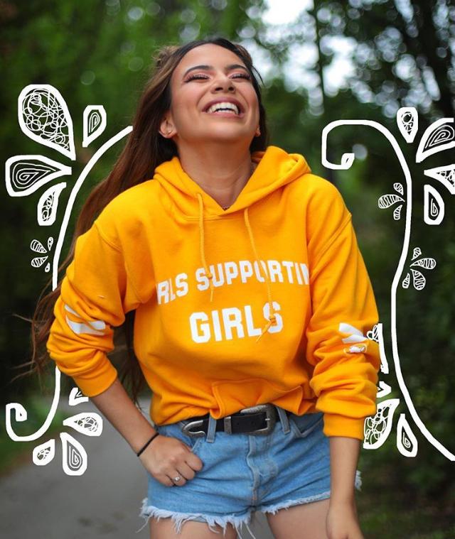 girls, happy, and yellow image