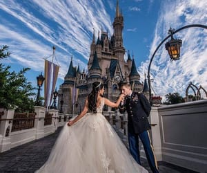 disney, dress, and wedding image