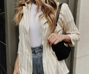 blazer, denim shorts, and fashion image