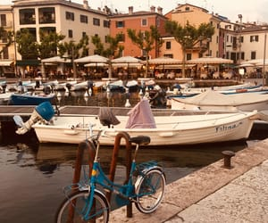 beautiful, boat, and bycicle image
