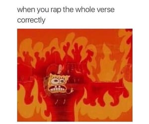 funny, rap, and spongebob image