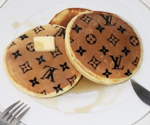 pancakes, Louis Vuitton, and food image