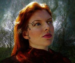 redhead photo art and genuine genie art image
