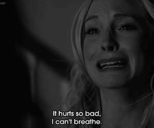 tvd, caroline forbes, and crying image