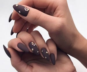 brown, cool, and manicure image