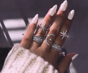 nails, jewelry, and white image