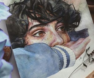 art, finn wolfhard, and drawing image