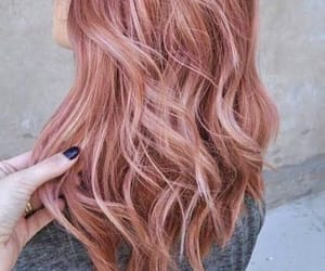 hairstyles, rose, and rose gold image