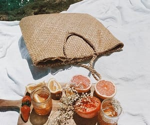 summer, fruit, and bag image