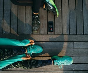 fitness, nike, and running image