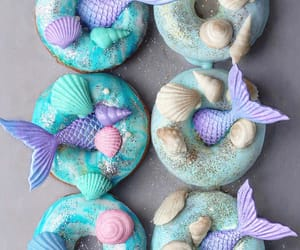donuts, mermaid, and sweet image