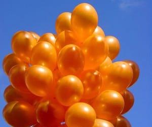 bubbles, orange, and ballons image